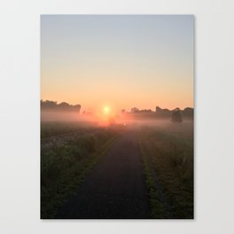 Misty Morning Ghosts #1 Canvas Print