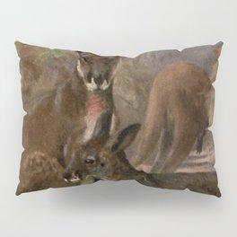 Vintage Kangaroo Painting (1909) Pillow Sham