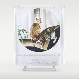 Troublemakers Shower Curtain
