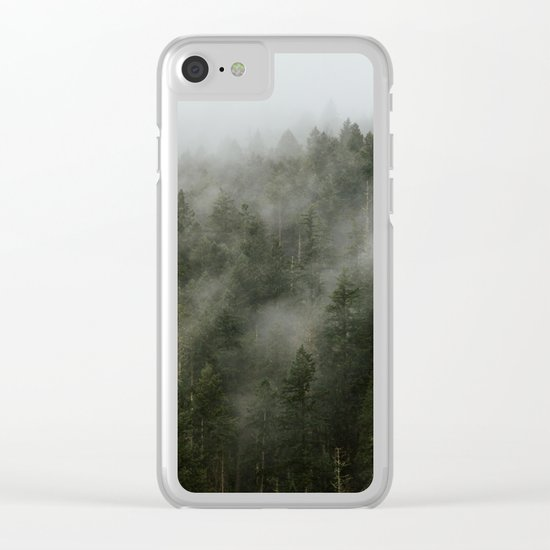 Pacific Northwest Foggy Forest Clear iPhone Case