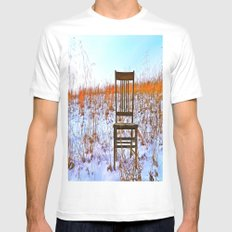 Winter Can Be Lonely White MEDIUM Mens Fitted Tee