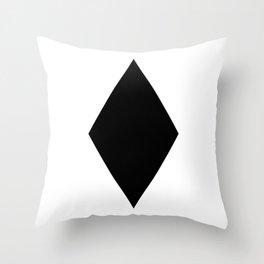 Black Diamond - White Background Throw Pillow