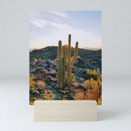 Backlit Saugaro Sonoran Desert Arizona Mini Art Print