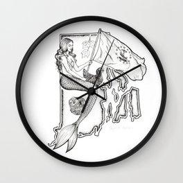 Rhode Island Mermaid Wall Clock