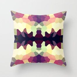 Rorshach in Color Throw Pillow