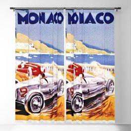 Vintage 1936 Monaco Grand Prix Racing Wall Art Blackout Curtain