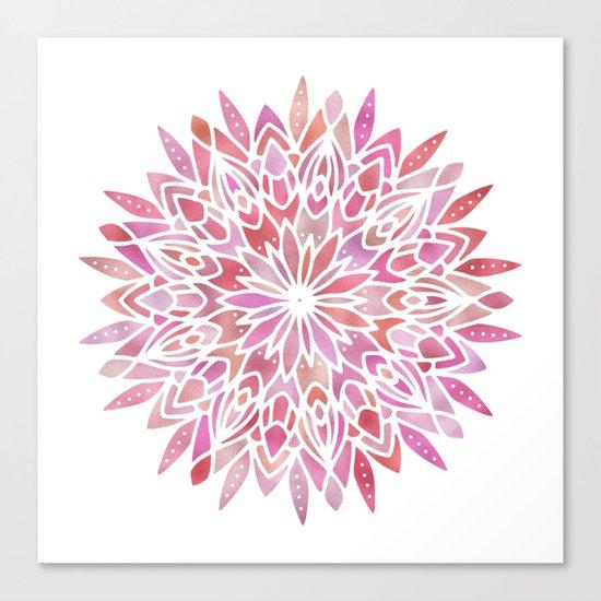 Mandala Pink Gold Canvas Print