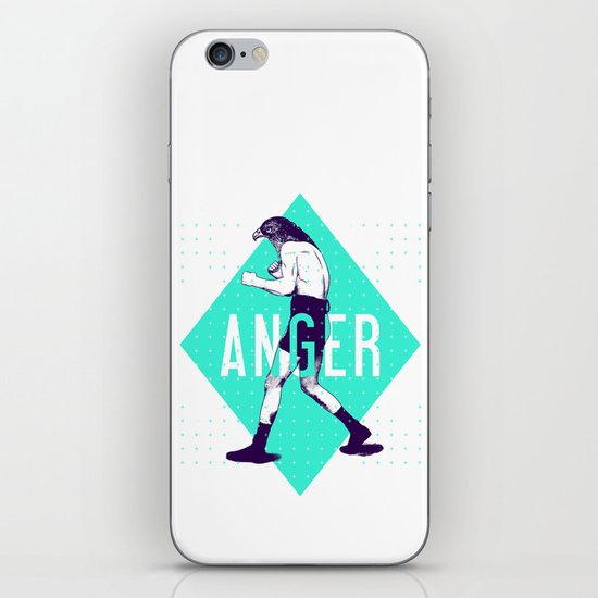 Anger iPhone & iPod Skin