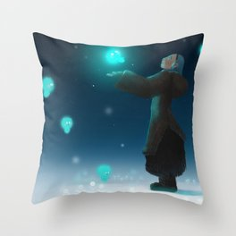North Witch Throw Pillow