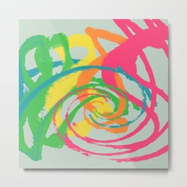 Abstract colour swirl pattern digital artwork Metal Print