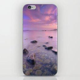 """Pink Sunset. Mediterranean sea."" iPhone Skin"