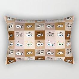 Cartoon Eyes Rectangular Pillow