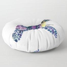 Sea Turtle, purple baby turtle illustration design Floor Pillow