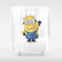 phil jones Shower Curtains featuring Minion - Phil by Konstantin Veter