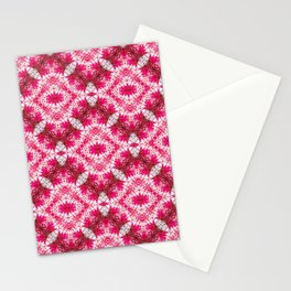 Padded Icy Pink Diamonds Stationery Cards