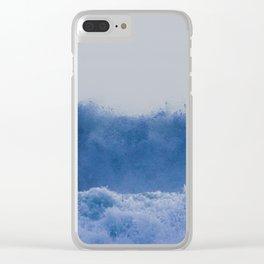 Blue Sea Wave Clear iPhone Case