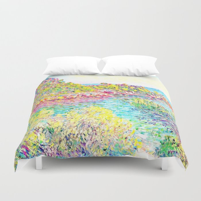 Monet Landscape Near Montecarlo Duvet Cover By Purelove