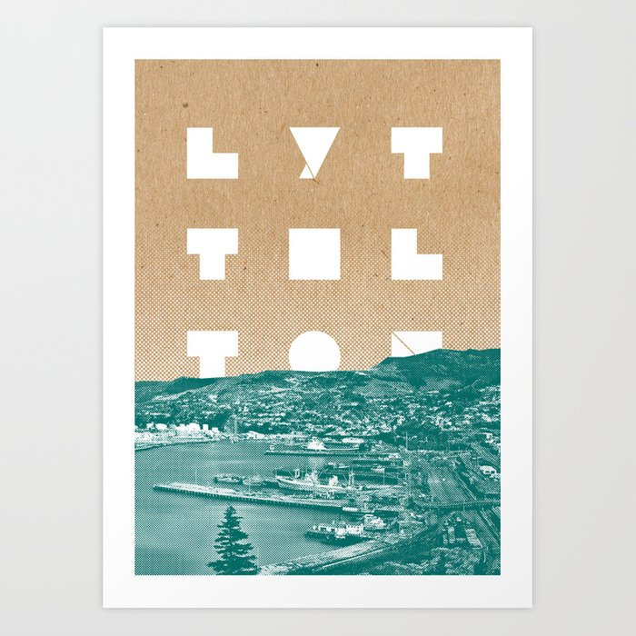 Happy Lyttelton Kraft Art Print