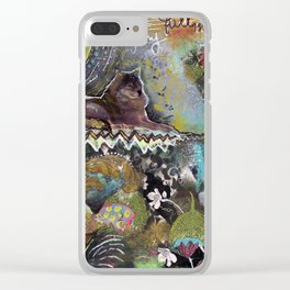 Full Moon River Clear iPhone Case