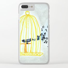 Caged Bird Singing Clear iPhone Case