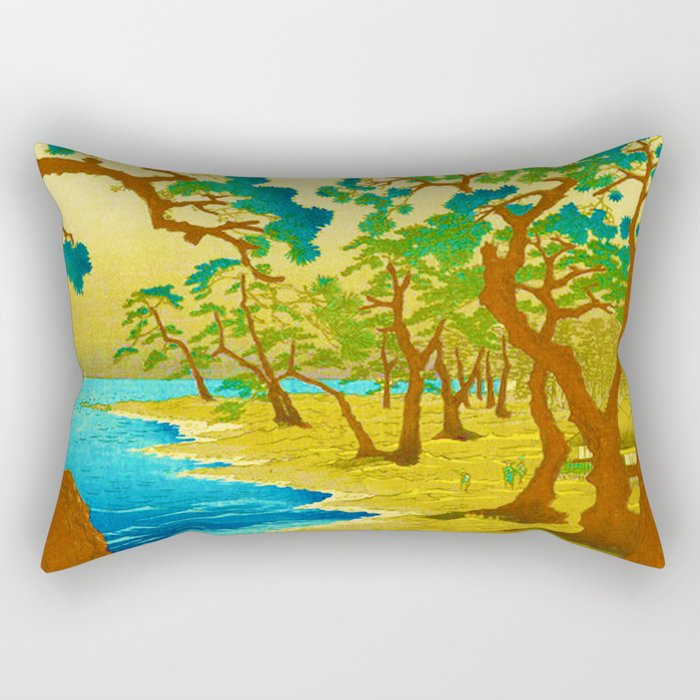 Rubino Asian Japan Forest Rectangular Pillow
