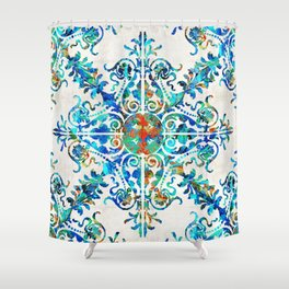 Colorful Pattern Art - Color Fusion Design 6 By Sharon Cummings Shower Curtain