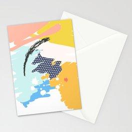 mininal century brush painted VI Stationery Cards