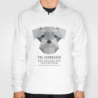 schnauzer Hoodies featuring The Schnauzer by The Origami Pet Collection