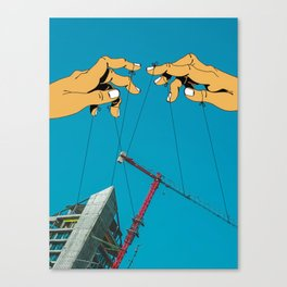 Construction With Strings Attached Canvas Print