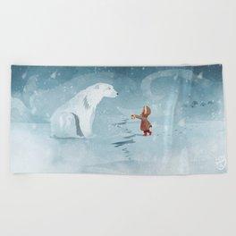Hooded Stranger Beach Towel