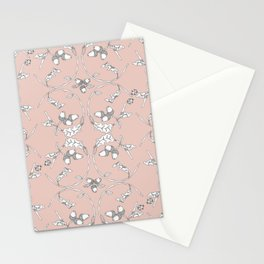 Acorns and ladybugs pink pattern Stationery Cards