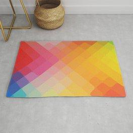 rhombus fantasy cross colors Rug