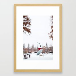 snow spoon & cherry Framed Art Print