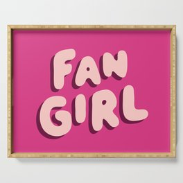 Fangirl in Pink Serving Tray