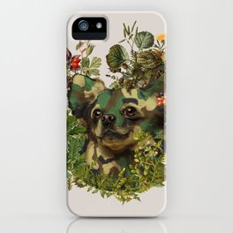Camo Chihuahua Forest Adventure iPhone Case