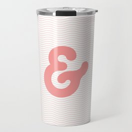 Ampersand in soft pink bubble typography wall art home decor Travel Mug