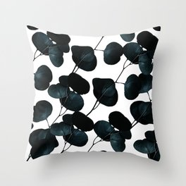 Dark Leaves #society6 #artforsale Throw Pillow