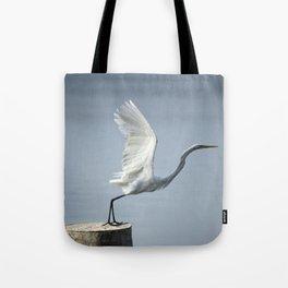 White Heron´s Fly Tote Bag