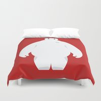baymax Duvet Covers featuring Baymax by Polvo
