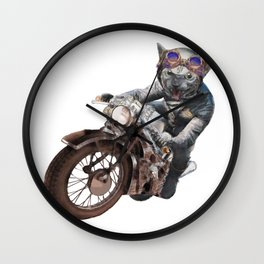 Cat Racer Wall Clock