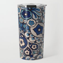Blue Paisley Travel Mug