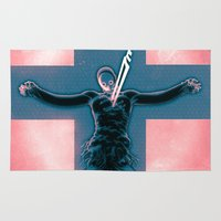 evangelion Area & Throw Rugs featuring Lilth from Evangelion by Barrett Biggers