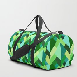 Modern Abstract Triangles, Emerald Green and Aqua Duffle Bag