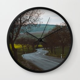 Along a rural road - Landscape and Nature Photography Wall Clock