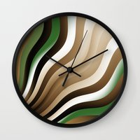 graphic design Wall Clocks featuring Graphic Design by gabiw Art