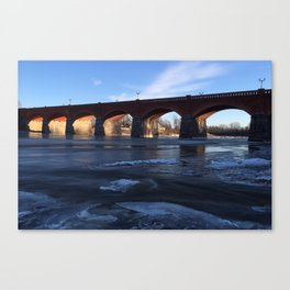 Ice on the River Canvas Print