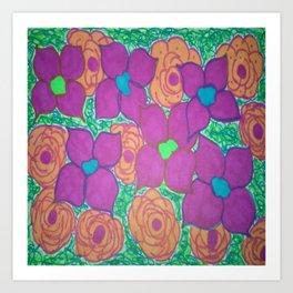 Bold Summer Flowers Art Print