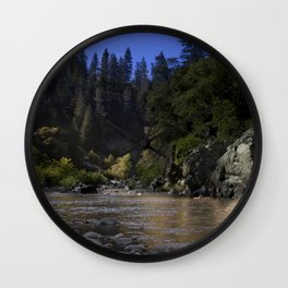 West Branch, Feather River, Paradise CA.  Wall Clock