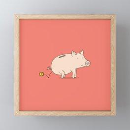 piggy bank Framed Mini Art Print