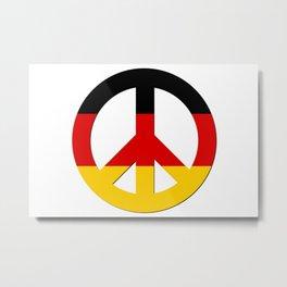 Black Red Yellow German Flag CND Peace Symbol Metal Print